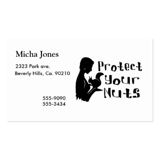 Protect Your Nuts Pack Of Standard Business Cards