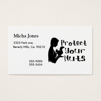 Protect Your Nuts Business Card