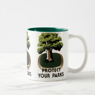 Protect Your Parks Two-Tone Coffee Mug