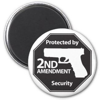 Protected by 2nd Amendment 6 Cm Round Magnet