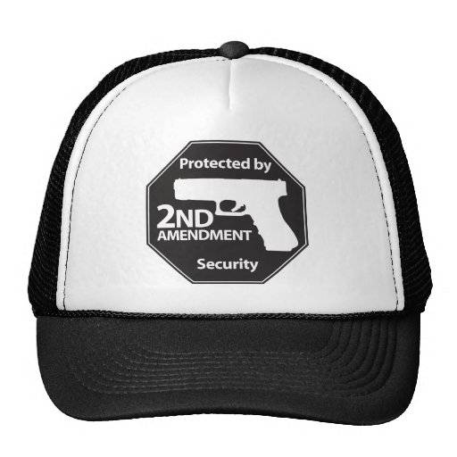 Protected by 2nd Amendment Trucker Hats