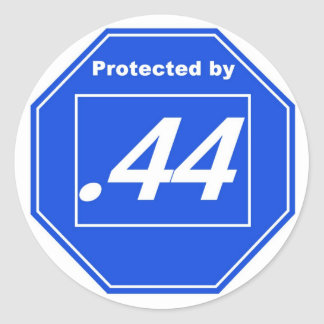 Protected by .44 round sticker
