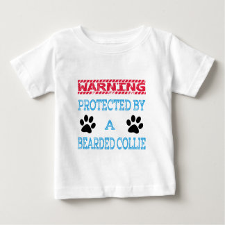 Protected By A Bearded Collie Dog Baby T-Shirt