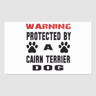Protected By A Cairn Terrier Dog Rectangular Sticker