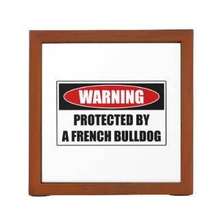 Protected By A French Bulldog Desk Organiser