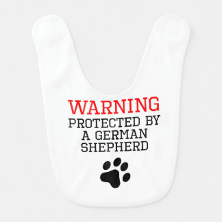 Protected By A German Shepherd Bib