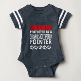 Protected By A German Shorthaired Pointer Baby Bodysuit