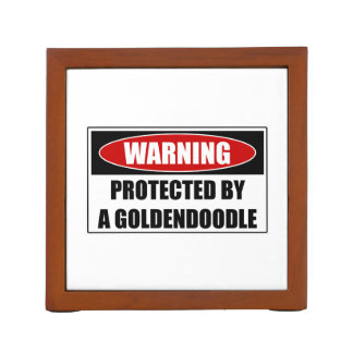 Protected By A Goldendoodle Desk Organiser