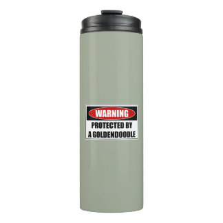 Protected By A Goldendoodle Thermal Tumbler