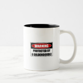 Protected By A Goldendoodle Two-Tone Coffee Mug