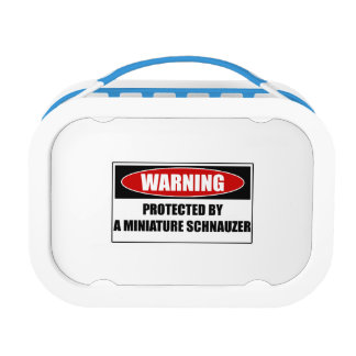 Protected By A Miniature Schnauzer Lunch Box