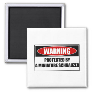 Protected By A Miniature Schnauzer Magnet
