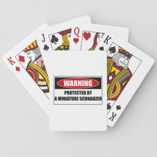 Protected By A Miniature Schnauzer Playing Cards