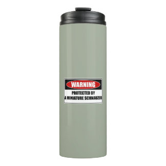 Protected By A Miniature Schnauzer Thermal Tumbler