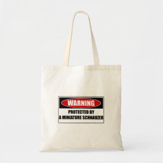 Protected By A Miniature Schnauzer Tote Bag