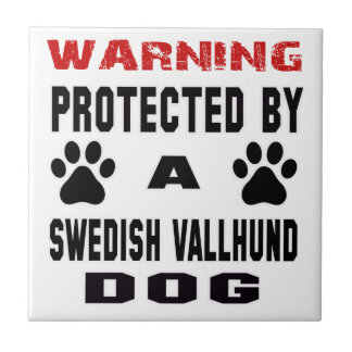 Protected By A Swedish vallhund Dog Tile
