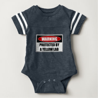 Protected By A Yellow Lab Baby Bodysuit