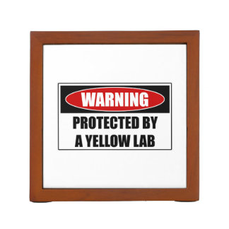 Protected By A Yellow Lab Desk Organiser