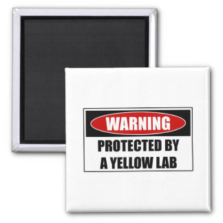 Protected By A Yellow Lab Magnet