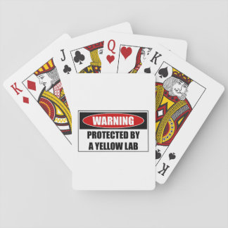 Protected By A Yellow Lab Playing Cards