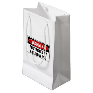 Protected By A Yellow Lab Small Gift Bag