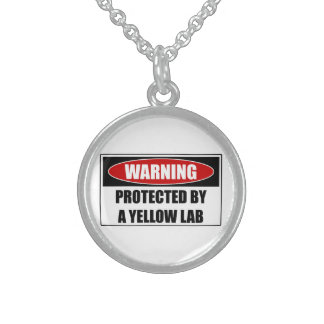 Protected By A Yellow Lab Sterling Silver Necklace