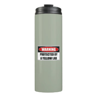 Protected By A Yellow Lab Thermal Tumbler