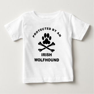 Protected By An Irish Wolfhound Baby T-Shirt