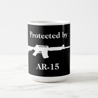 Protected by AR-15 Basic White Mug