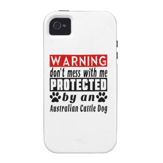 Protected By Australian Cattle Dog iPhone 4/4S Cases
