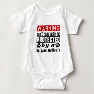 Protected By Belgian Malinois Baby Bodysuit