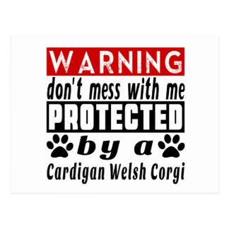 Protected By Cardigan Welsh Corgi Postcard
