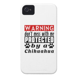 Protected By Chihuahua iPhone 4 Case-Mate Case