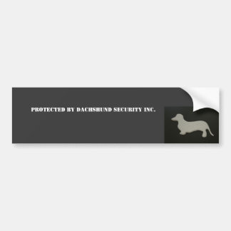 Protected by Dachshund Security Bumper Sticker