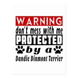 Protected By Dandie Dinmont Terrier Postcard