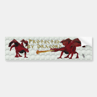 Protected by dragons bumper sticker