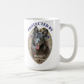 Protected By Dutch Shepherd Coffee Mug