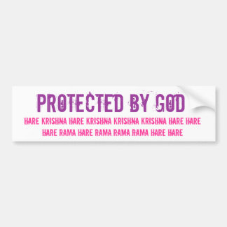Protected by God Bumper Sticker