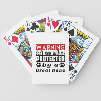 Protected By Great Dane Bicycle Playing Cards