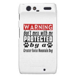 Protected By Greater Swiss Mountain Dog Droid RAZR Covers
