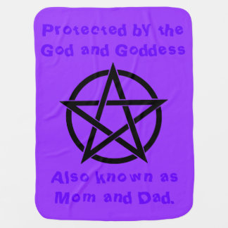Protected by Mom and Dad Wicca Baby Blanket