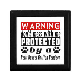 Protected By Petit Basset Griffon Vendeen Small Square Gift Box