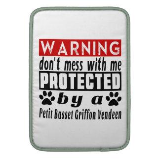 Protected By Petit Basset Griffon Vendeen MacBook Air Sleeves