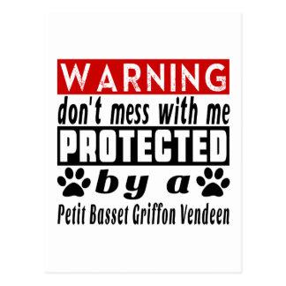 Protected By Petit Basset Griffon Vendeen Postcard
