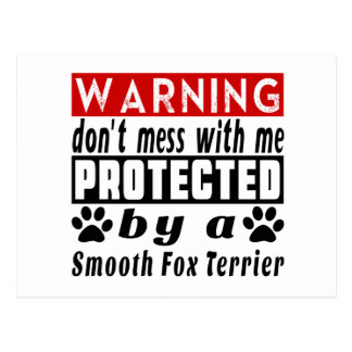 Protected By Smooth Fox Terrier Postcard