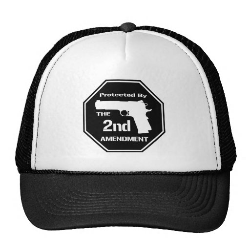 Protected By The Second Amendment (Black).png Mesh Hats