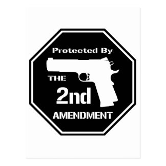 Protected By The Second Amendment (Black).png Postcard