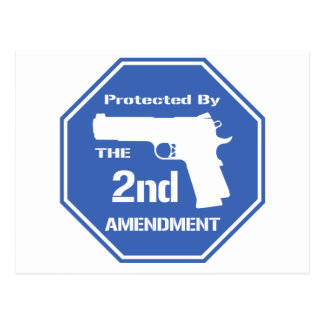 Protected By The Second Amendment (Blue).png Postcard