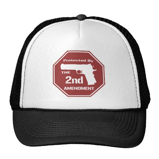 Protected By The Second Amendment (Red).png Trucker Hats