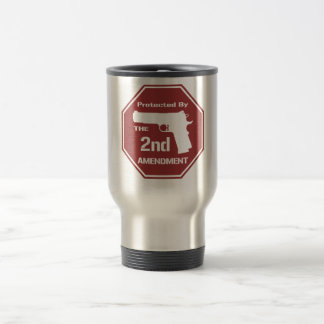 Protected By The Second Amendment (Red) Stainless Steel Travel Mug